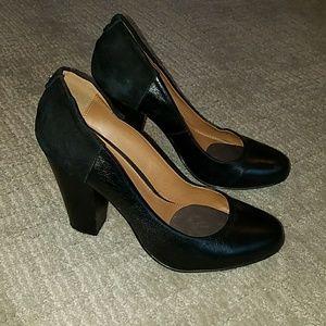 Black leather & suede pumps by Aldo - 8